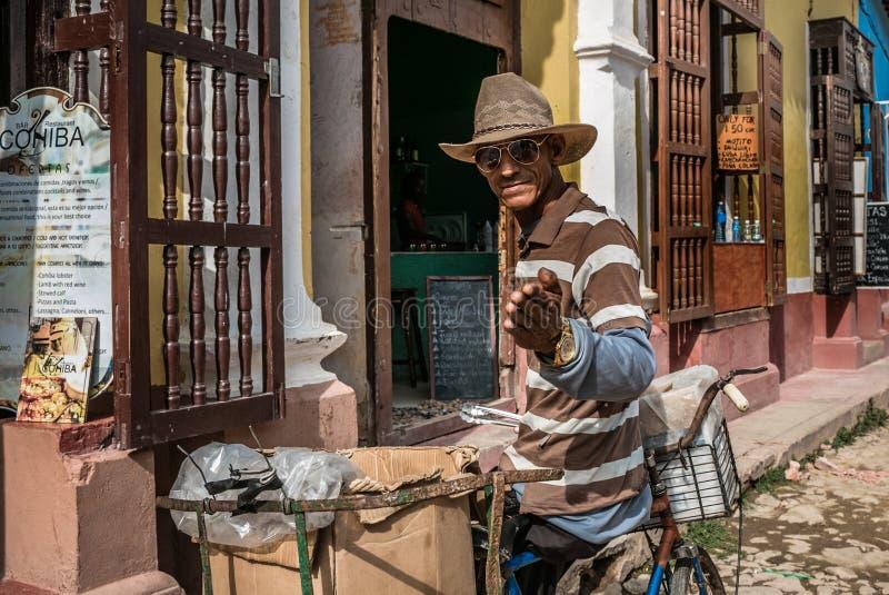 特立尼达,古巴- 2017年5月06日 免版税库存照片