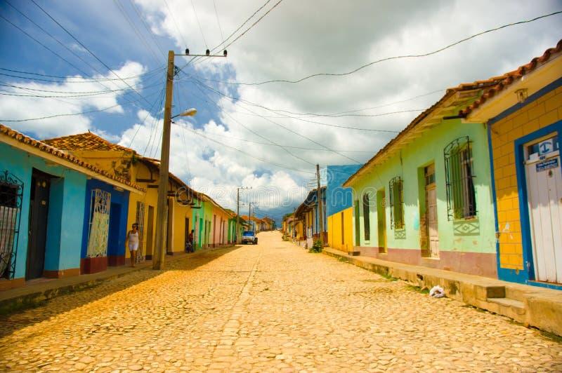 特立尼达,古巴- 2015年9月8日:选定了a 库存图片