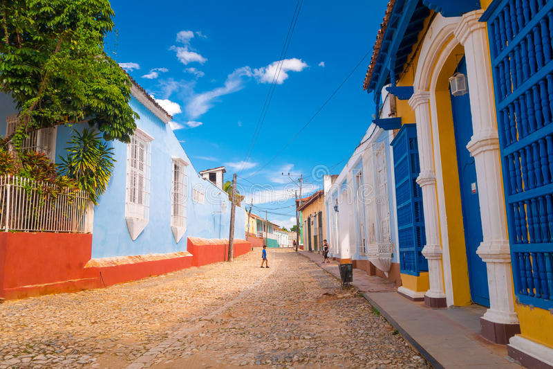 特立尼达,古巴- 2015年9月8日:选定了a 免版税库存图片