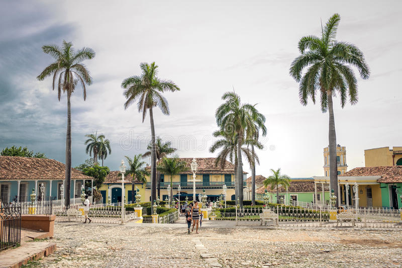 特立尼达,古巴- 2017年5月06日 库存照片