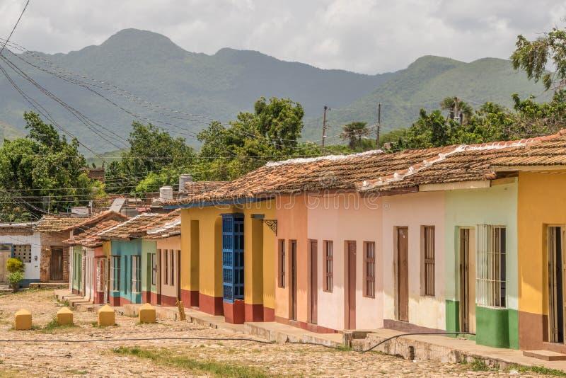 特立尼达,古巴的街道 免版税库存图片
