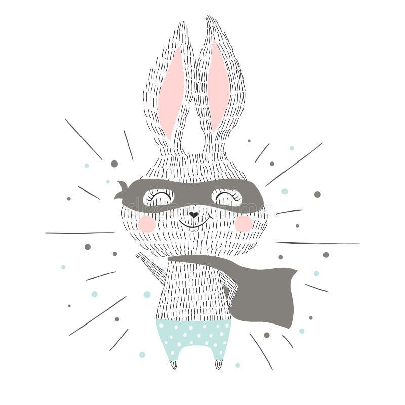 特级英雄兔宝宝 皇族释放例证