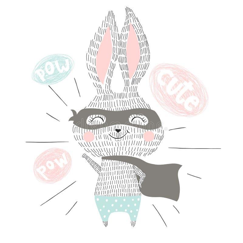特级英雄兔宝宝 向量例证