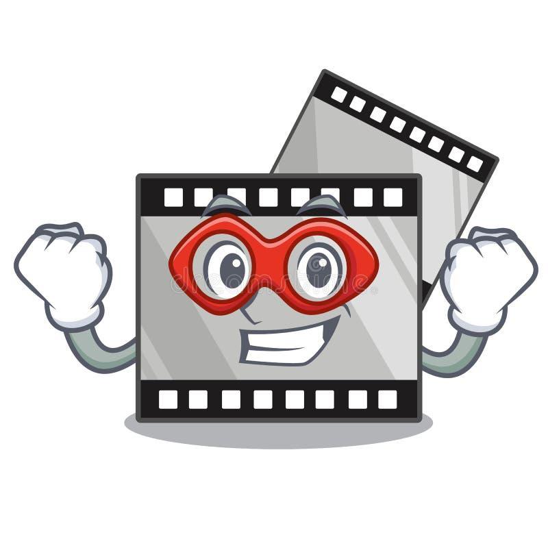 特级英雄在characater形状的影片stirep 库存例证