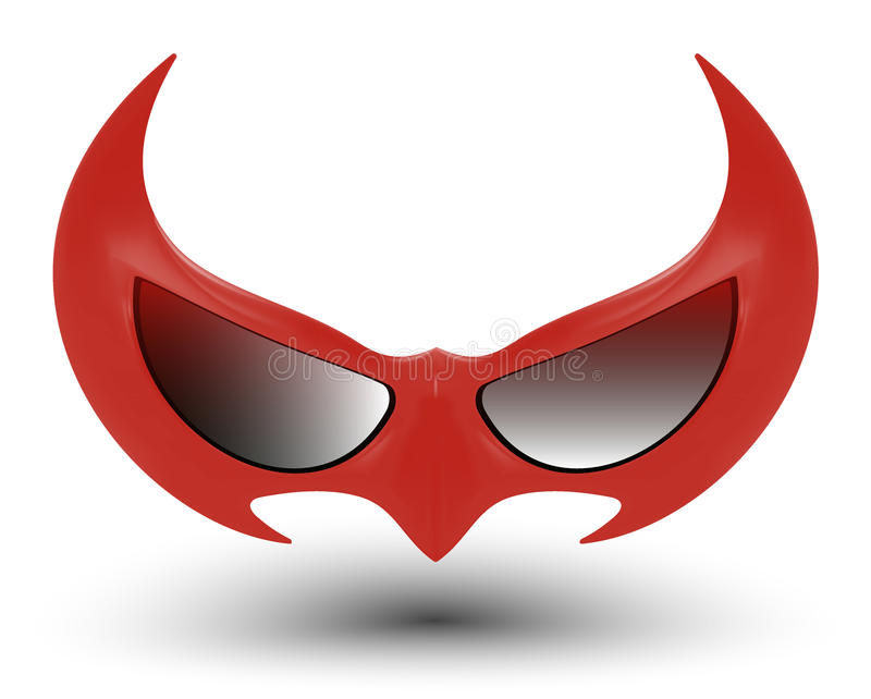 黑特级英雄面具 库存例证