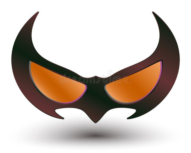 黑特级英雄面具 皇族释放例证