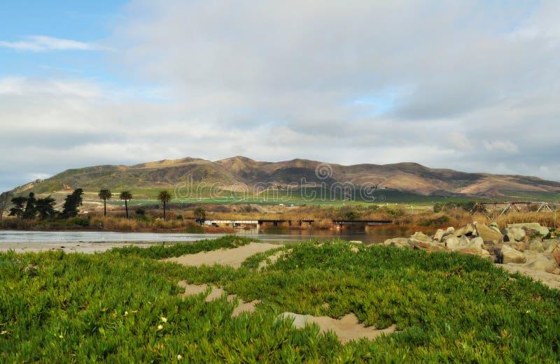 维特纳加利福尼亚中央海岸出海口 免版税图库摄影