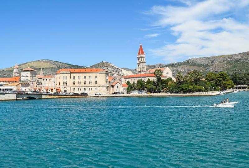 特罗吉尔的地中海在克罗地亚 库存图片