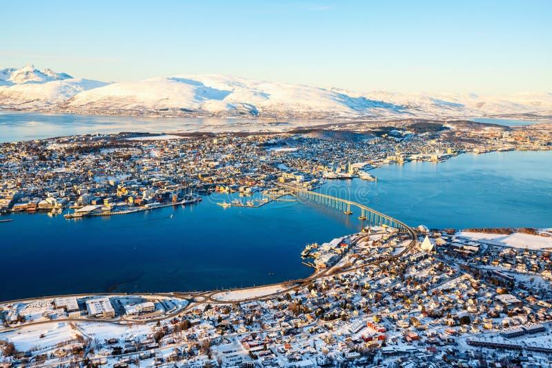 特罗姆瑟在北挪威 库存图片