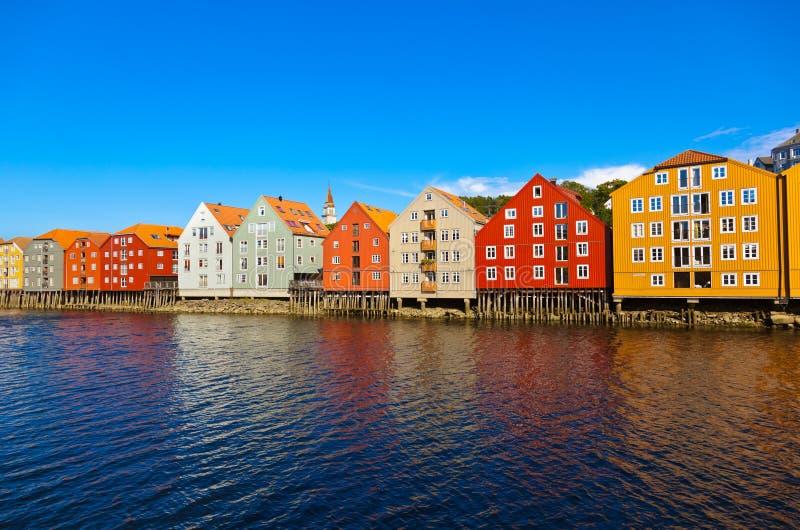 特隆赫姆挪威都市风景 免版税库存照片
