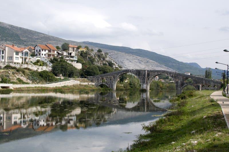 特雷比涅著名老桥梁  图库摄影