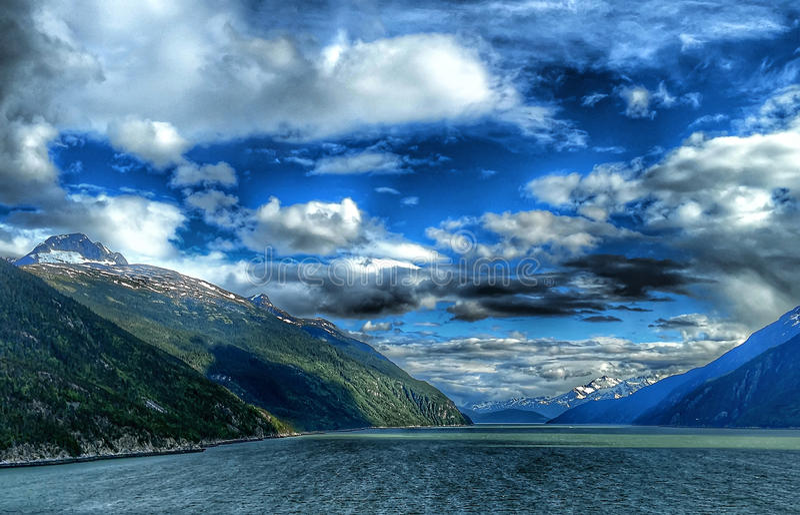 特雷西胳膊海湾锯工冰川 库存照片