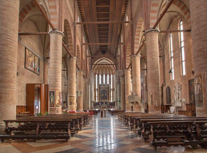 特雷维索-圣尼古拉斯教会内部  库存照片