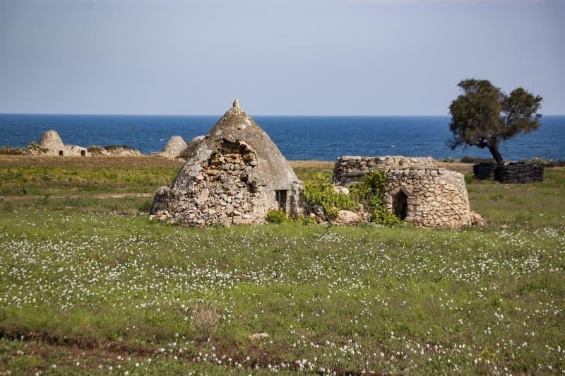 特鲁利,普利亚意大利老废墟  免版税库存图片