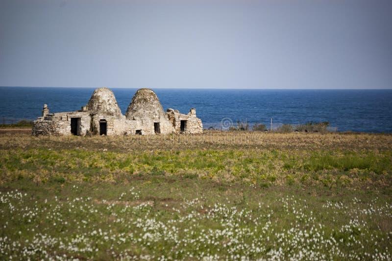 特鲁利,普利亚意大利老废墟  免版税库存照片
