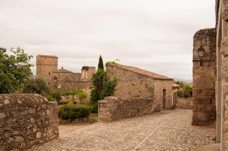 特鲁希略角在西班牙 顶面目的地在西班牙 免版税库存照片