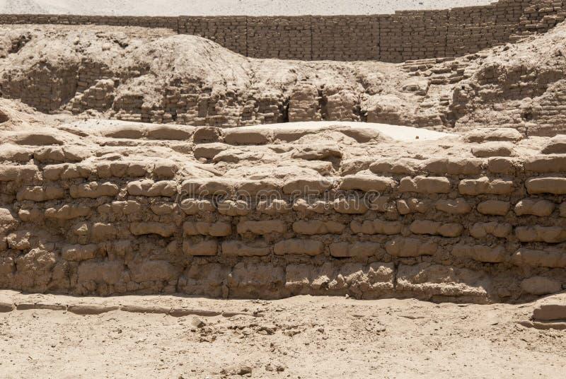 特鲁希略角- Salaverry的秘鲁昌昌考古学站点 库存图片