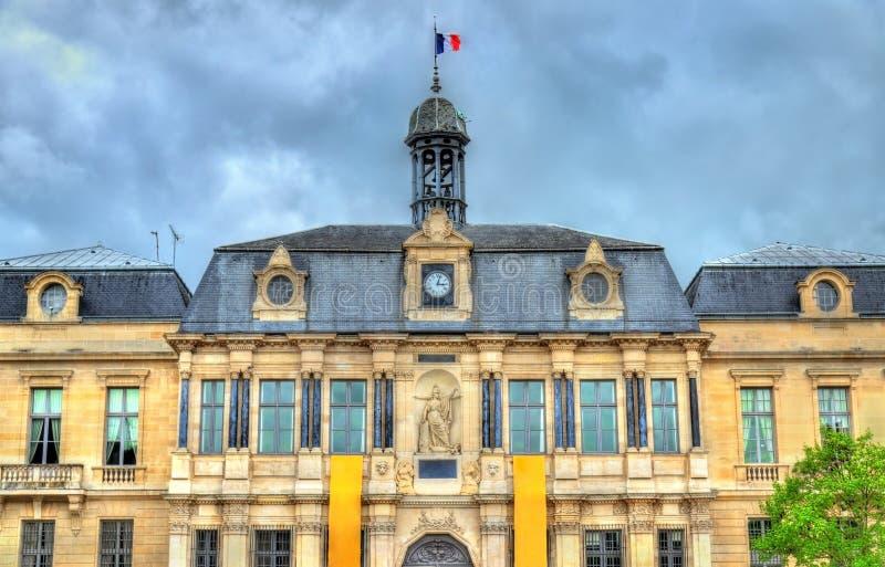 特鲁瓦城镇厅,奥布省部门的首都在法国 图库摄影