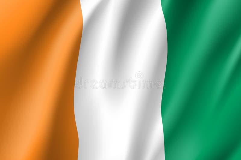 彻特d ` Ivoire旗子 象牙海岸 皇族释放例证