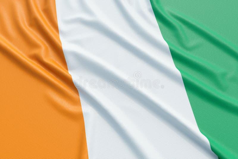 彻特d ` Ivoire旗子 向量例证