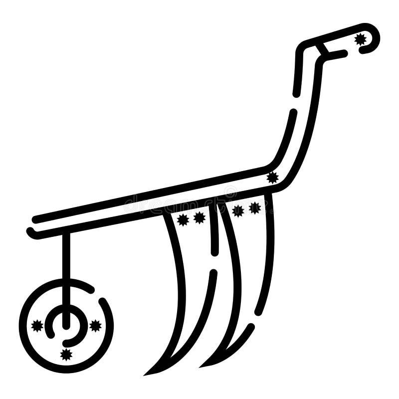犁机器象传染媒介例证 库存例证
