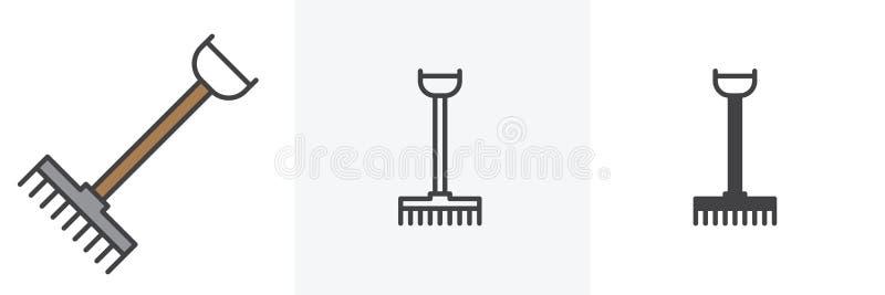 犁耙,种田工具象 皇族释放例证