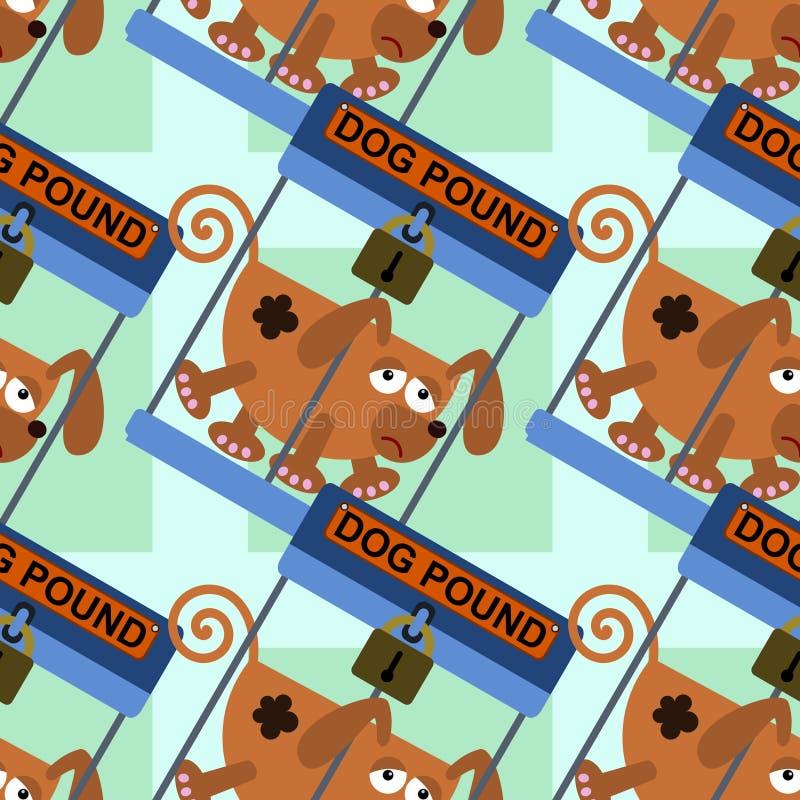犬拘留所无缝的背景设计 向量例证