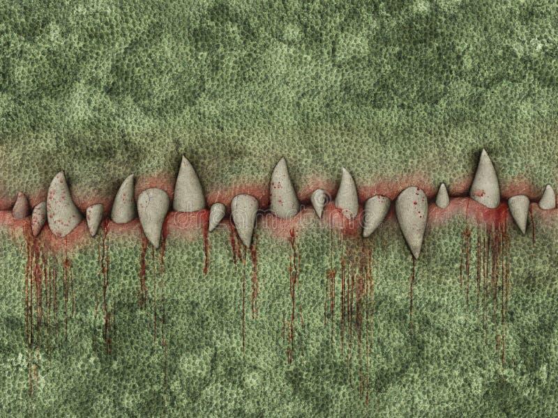 犬齿 向量例证