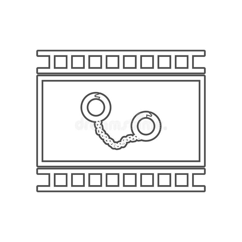 犯罪影片象 设置戏院元素象 r E 库存例证