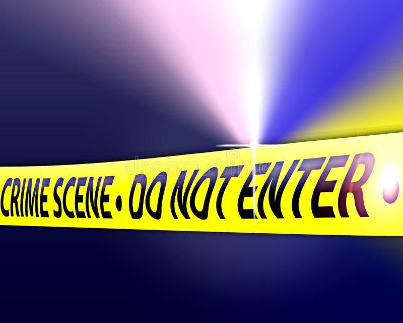 犯罪现场调查 库存例证