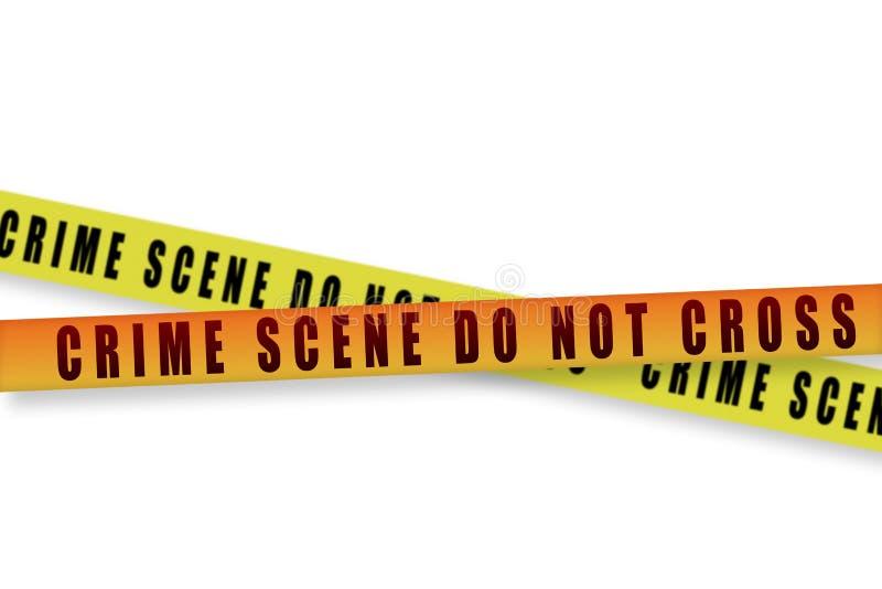 犯罪现场磁带 库存例证