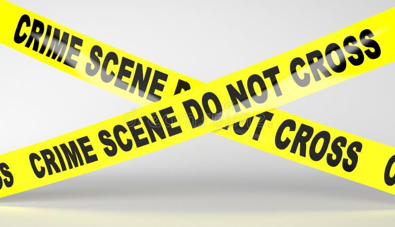 犯罪现场磁带 皇族释放例证