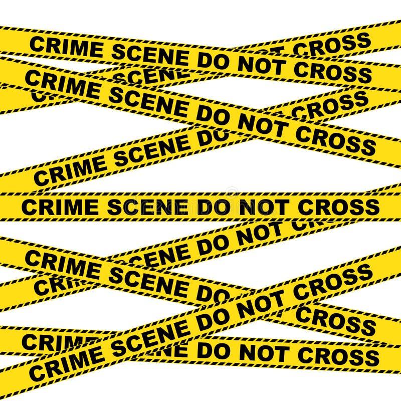 犯罪现场警告背景 向量例证