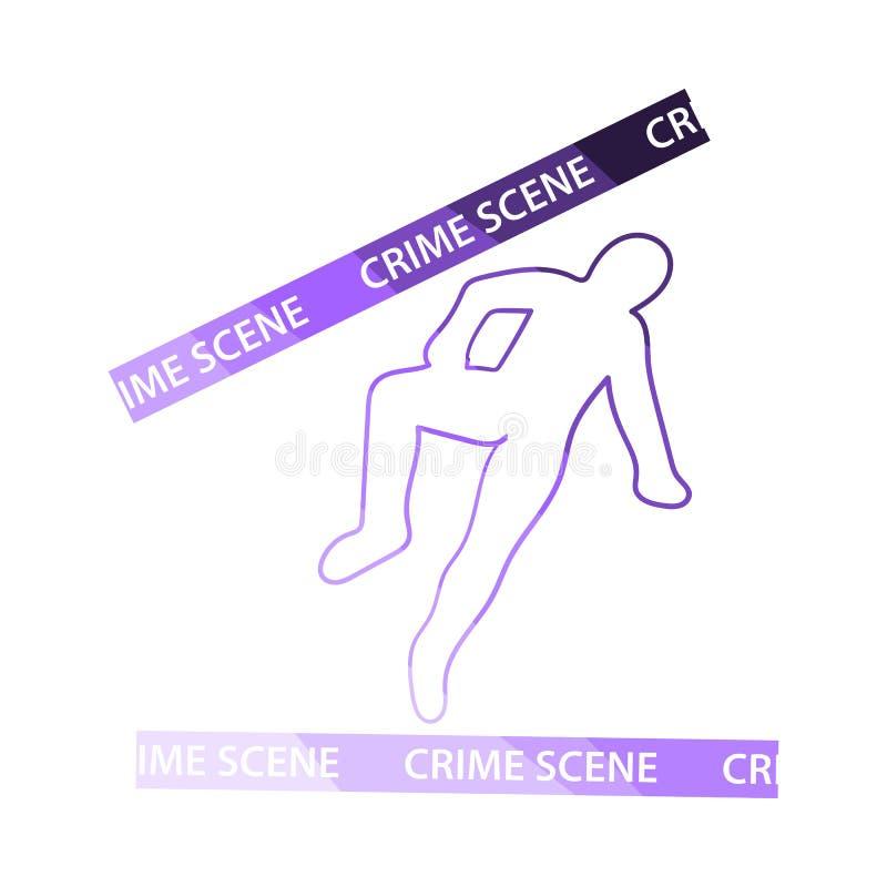 犯罪现场象 向量例证