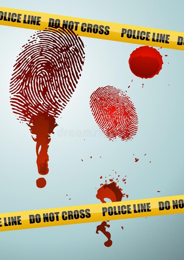 犯罪现场 库存例证