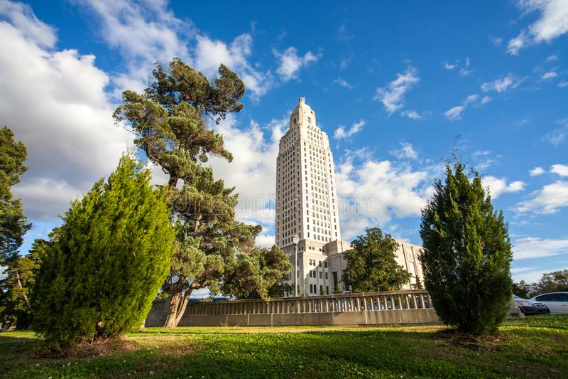 状态国会大厦在巴吞鲁日路易斯安那 库存图片