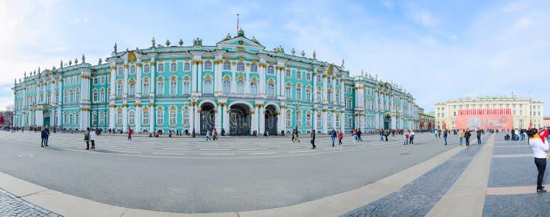 状态埃尔米塔日博物馆冬宫,宫殿正方形,圣彼德堡,俄罗斯 免版税库存图片