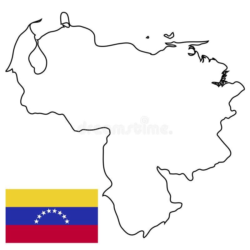 状态委内瑞拉,委内瑞拉的状态的边界概述的传染媒介的概述国家 库存例证