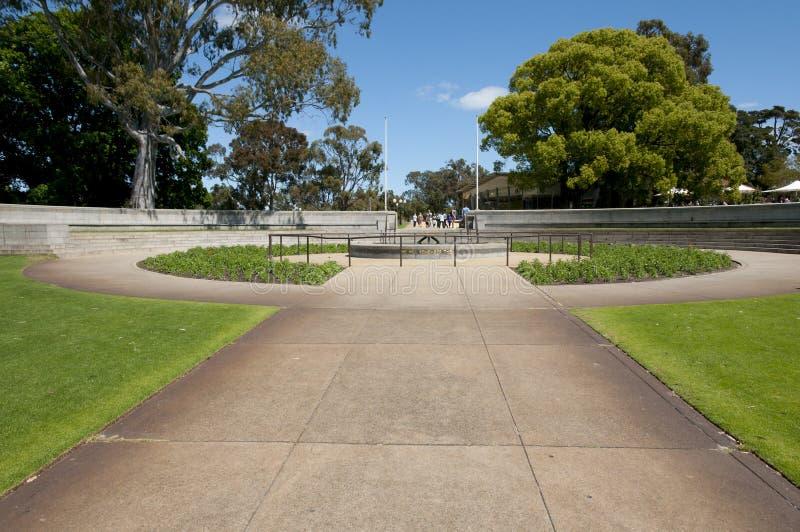 状态战争纪念建筑-珀斯-澳大利亚 库存图片