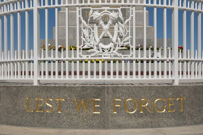 状态战争纪念建筑-珀斯-澳大利亚 免版税图库摄影