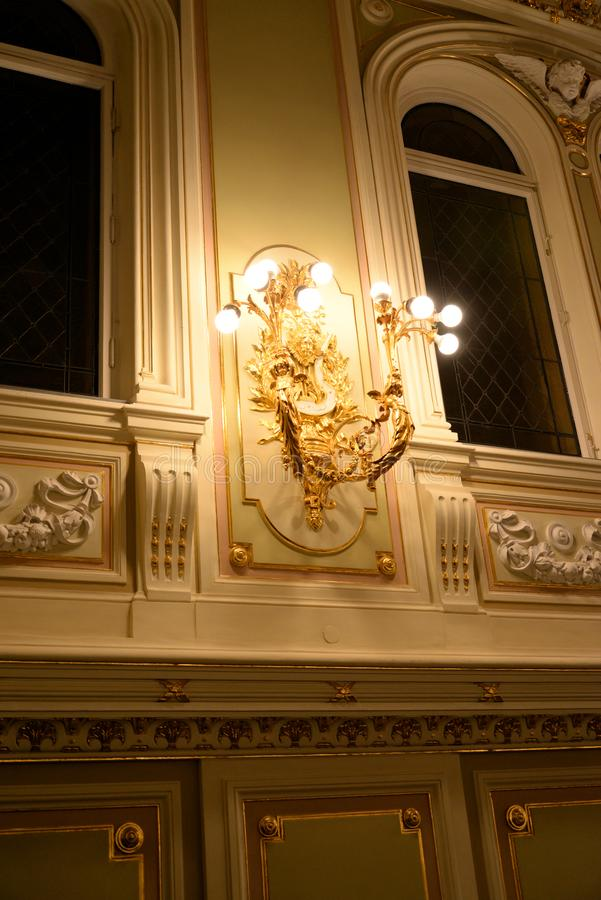 状态院教堂的主要大厅的内部 库存图片