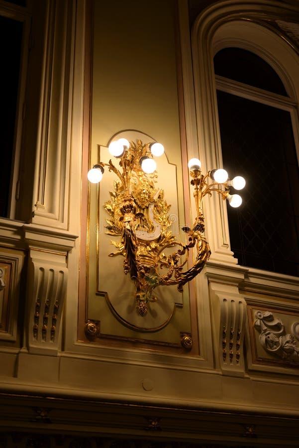状态院教堂的主要大厅的内部 免版税图库摄影