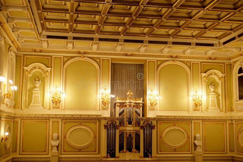 状态院教堂的主要大厅的内部 免版税库存照片