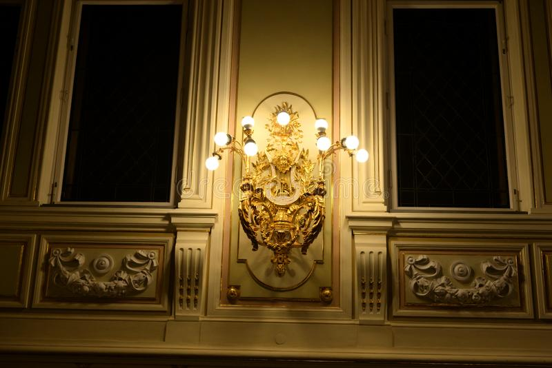 状态院教堂的主要大厅的内部 图库摄影