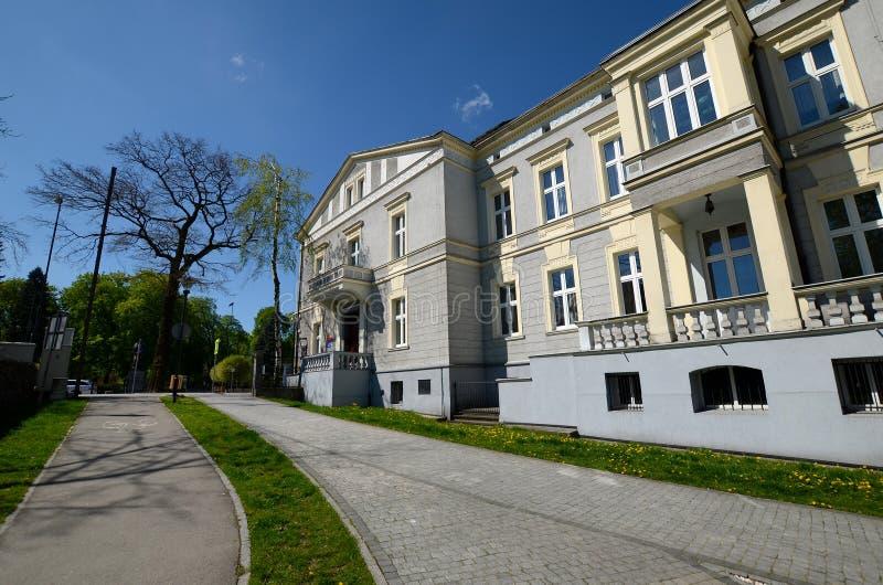 状态音乐学校在格利维采,波兰 免版税库存照片