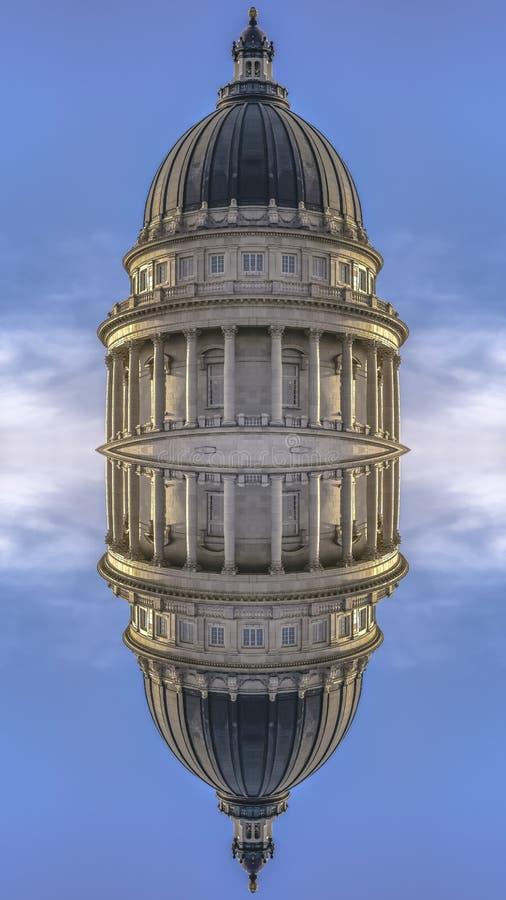 犹他国家资本的双重被反映的圆顶 免版税库存照片
