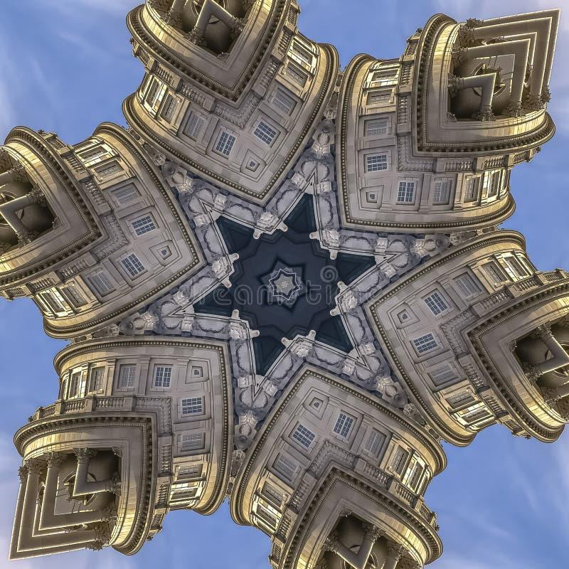 犹他国家资本的方形的框架柱子和窗口 库存例证