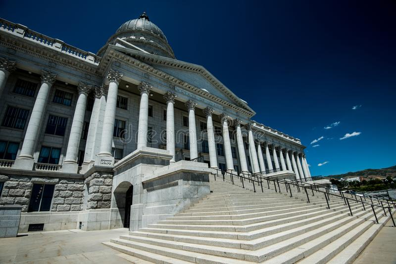 犹他状态国会大厦大厦在盐湖城, UT 免版税库存图片