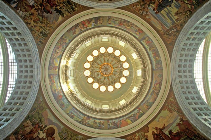 犹他的状态国会大厦内部  免版税库存图片