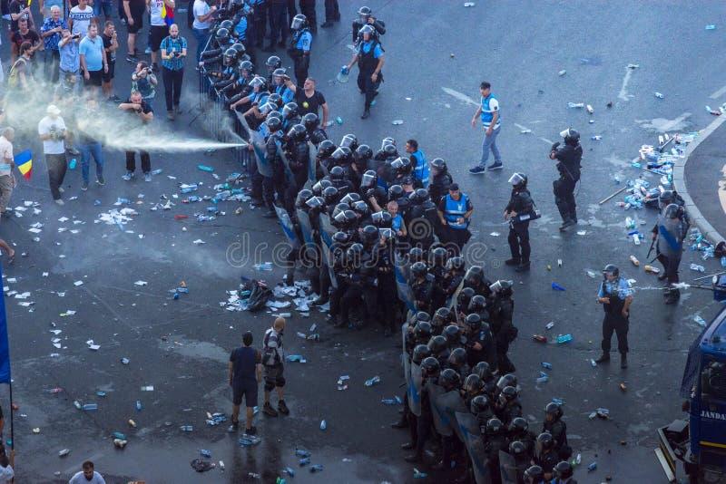 犹太人散居地在布加勒斯特抗议反对政府 免版税库存图片